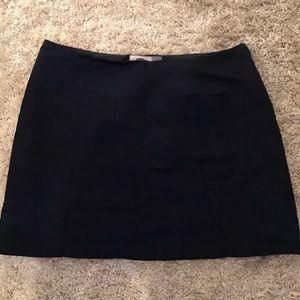 Old Navy suede navy skirt